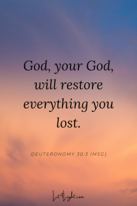 bible verse about restoration