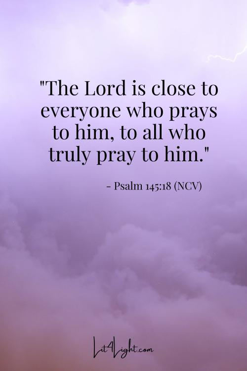 Isaiah 145:18 Pray